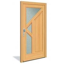 3-Sterne HT 1128 Holz Haustür mit Glasausschnitt - Interio