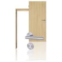 Innentür-Set Eiche Roheffekt CPL Tür mit runder Zarge und Drücker