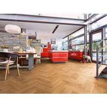 Eiche harmonisch 1-Stab Stab-Parkett für Fischgrätverlegung Longlife-Parkett Boden Premium Residence PS 400-8042 - MEISTER