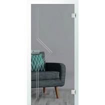Er 13 Rillenschliff Glastür mit Fläche klar - Erkelenz