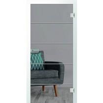 Er 58 Rillenschliff Glastür mit Fläche klar - Erkelenz