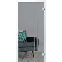 Er 70 Rillenschliff Glastür mit Fläche klar - Erkelenz