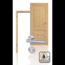 Innentür-Set Premium-Massivholztür TE-2 Kiefer astig geölt mit Zarge und Drücker