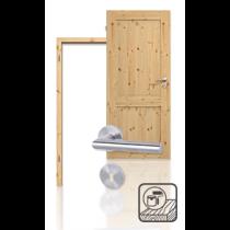 Innentür-Set Premium-Massivholztür TE-2 Kiefer astig lackiert mit Zarge und Drücker