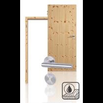 Innentür-Set Premium-Massivholztür TG-1 Kiefer astig geölt mit Zarge und Drücker