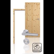 Innentür-Set Premium-Massivholztür TG-1 Kiefer astig lackiert mit Zarge und Drücker