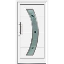 Weiße Basic Aluminium Haustür Hooge 6E Glas Priwall - Brand