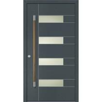 A 17 208 Aluminium Holz Haustür mit Glasausschnitt - Kneer