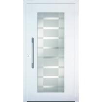 A 17 216 Aluminium Holz Haustür mit Glasausschnitt - Kneer