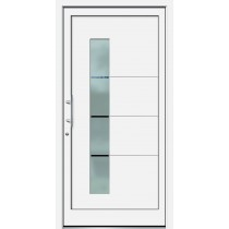 Weiße Basic Plus Kunststoff Haustür Hunter 2 Glas Halifax - Brand
