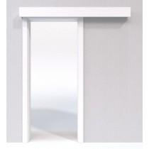 Schiebetür-System Classic vor der Wand laufend Duritop Struktur weiß - Jeld-Wen