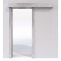Schiebetür-System Classic vor der Wand laufend Duritop Concrete - Jeld-Wen
