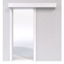 Schiebetür-System Classic vor der Wand laufend Duritop Uni grau - Jeld-Wen