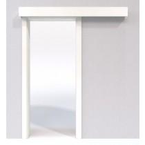 Bild von Ultraweiß Laminat DuriTop (CPL) Schiebetür-System Classic vor der Wand laufend - Jeld-Wen