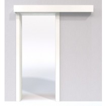 4 Schiebetür-System Classic vor der Wand laufend Weißlack 9010 - Jeld-Wen