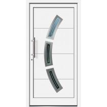 Weiße Basic Aluminium Haustür Langeoog 6E Glas Laboe - Brand