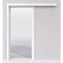 Weißlack 9010 Lack Schiebetür-System vor der Wand laufend - Lebo