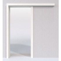 Weißlack 9016 Lack Schiebetür-System vor der Wand laufend - Lebo