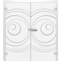 Bild von Lira Mattprint Doppelflügeltür mit Motiv klar - Erkelenz