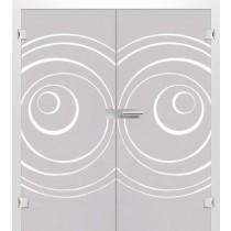 Bild von Lira Mattprint Doppelflügeltür mit Motiv matt - Erkelenz