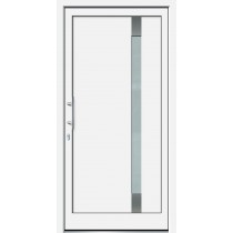 Weiße Basic Plus Kunststoff Haustür Neptun 2 Glas Bonn - Brand