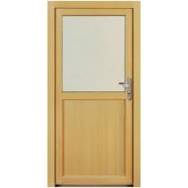 NT A 3 Holz Nebeneingangstür mit Glasausschnitt - Kneer