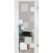 Retro Farbprint Holzglastür - Erkelenz