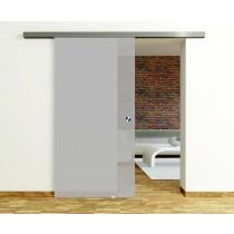 Vollflächig matt Glasschiebetür-Set inkl. Schiebetürsystem 45 - Erkelenz