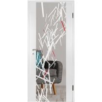 Stick Farbprint Holzglastür - Erkelenz