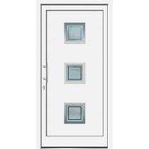 Weiße Basic Plus Kunststoff Haustür Tiros 6E Glas Antwerpen - Brand