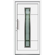 Weiße Basic Aluminium Haustür Usedom 6E Glas Scharbeutz - Brand