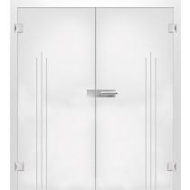 Vertigo Mattierung Doppelflügeltür mit Motiv klar - Erkelenz