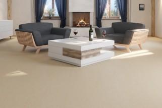 Creme Linoleum Boden Premium inkl. Trittschalldämmung Puro LID 300 S-7300 - Meister