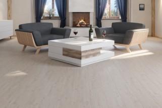 Eiche Helsinki Weiss F03 Landhausdielen Pro Vinylboden Pure Edition - ter Huerne Milieu Berghaus