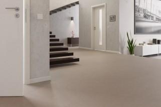 Warmgrau Linoleum Boden Premium inkl. Trittschalldämmung Puro LID 300 S-7301 - Meister