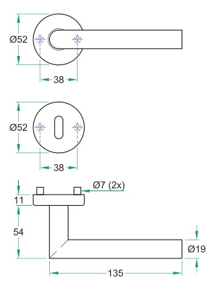 Bild 6 von Modell Tipo matt Rundrosette - Interio