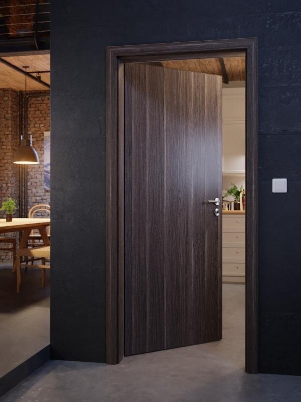 innent r set eiche anthrazit cpl t r mit zarge und dr cker. Black Bedroom Furniture Sets. Home Design Ideas