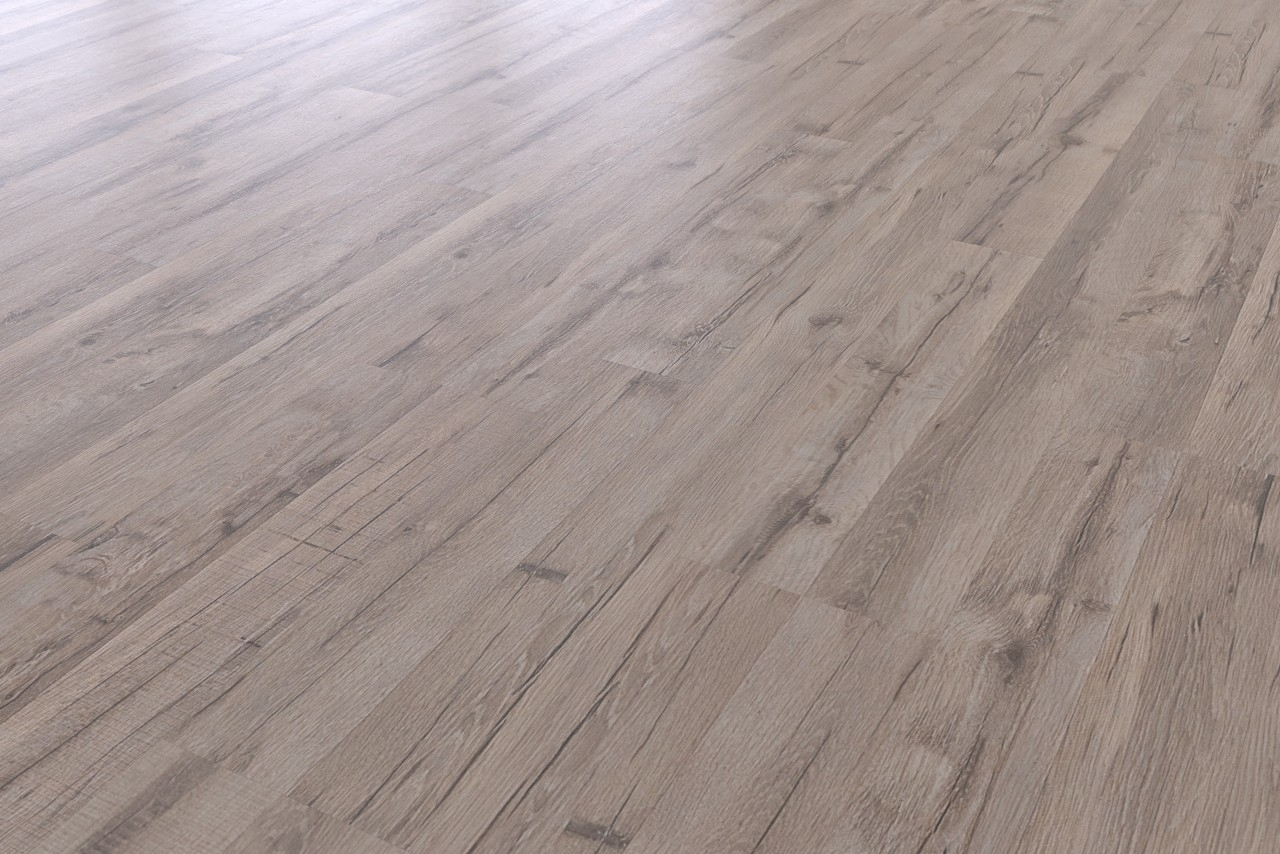 bodenkomplettset eiche gray 2-stab light laminat - interio
