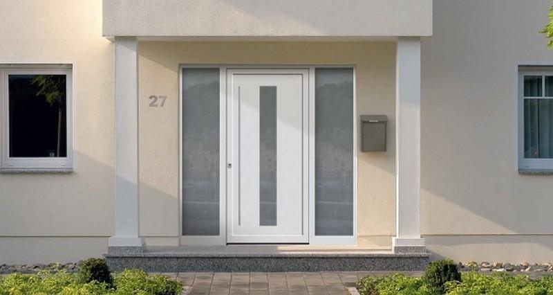 seitenteil f r aluminium haust ren brillante kneer. Black Bedroom Furniture Sets. Home Design Ideas