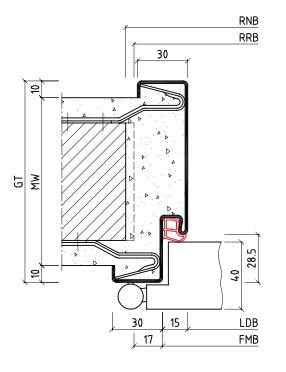 stahl umfassungszarge f r mauerwerk 1 teilig bos. Black Bedroom Furniture Sets. Home Design Ideas