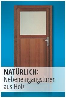 Nebeneingangstüren aus Holz
