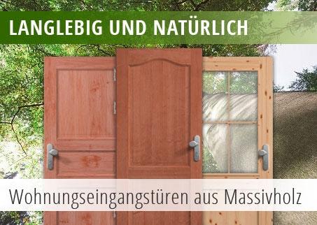 Drei Wohnungseingangstüren aus Holz