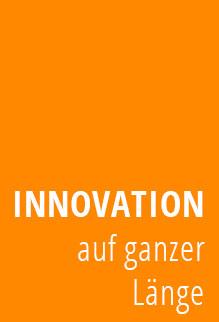 Schriftzug Innovation auf ganzer Länge