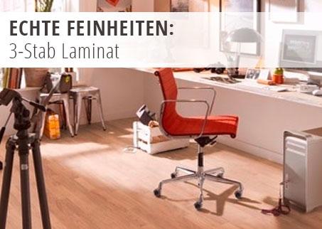 Bodenbeläge, Fußboden, Laminat, 3-Stab, Design, Verlegeart