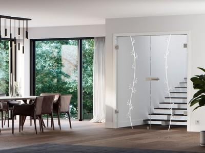 Milieubild einer Glastür