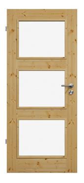 Moderne Massivholztür in Fichte, geölt mit Holzfüllung, Produktbild