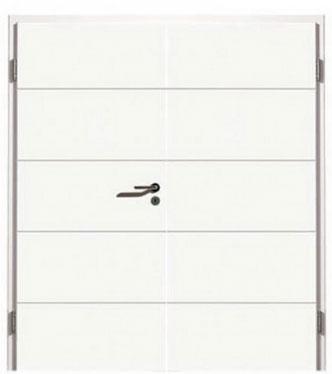 weiß, Design, modern, Bauhaus, Doppelflügel-Türen
