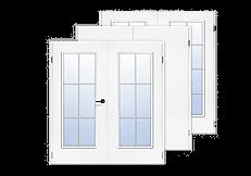 glatt, weiß, Doppelflügel-Türen