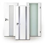 Holzglastüren, Innentüren, Glas und Holz, weiß