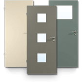 Innentür, Zimmertür, HPL, unifarben, einfarbig, RAL, Objektbau